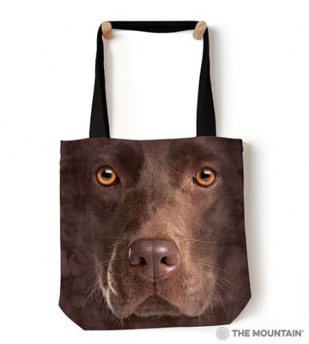 The Mountain® Chocolate Lab Face Tote Bag